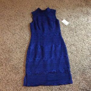 Royal blue knee high dress